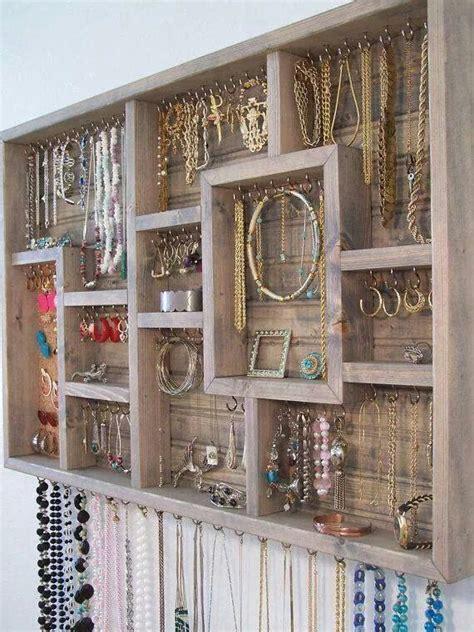 jewelry organization ideas diy jewelry organizer craft ideas