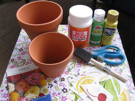 make your own decoupage planet how to decoupage flower pots