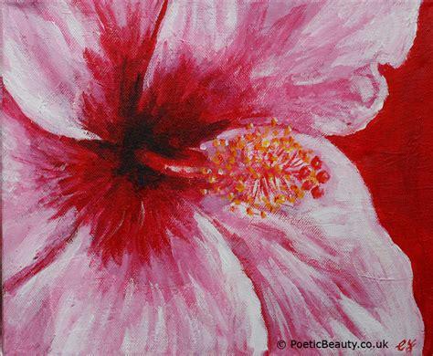 acrylic paint flowers hibiscus original acrylic on canvas poetic