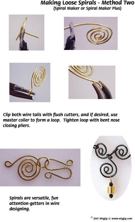 wire techniques for jewelry spirals in jewelry wire jewelry technique