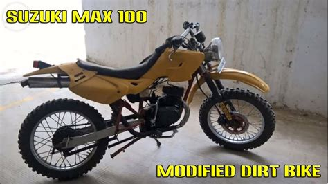 Modified Mini Bikes by Suzuki Max 100 Modified To Dirt Bike
