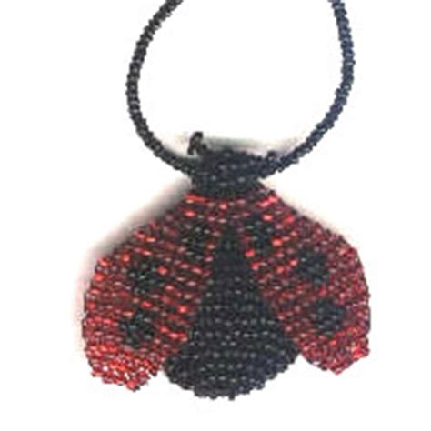 beaded ladybug pattern 3d beaded ladybug pattern and kit by