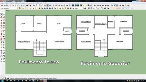 programa para fazer planta baixa sketchup planta baixa modelo sobrado pt 01 02