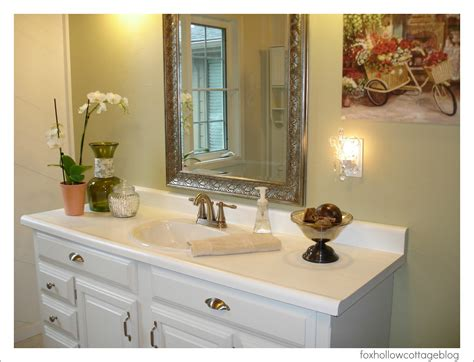 Cheap Bathroom Makeovers by A Budget Bathroom Makeover Fox Hollow Cottage