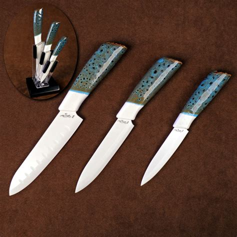best ceramic kitchen knives three ceramic kitchen cutlery set with counter top knife holder santoku 6 blade utility