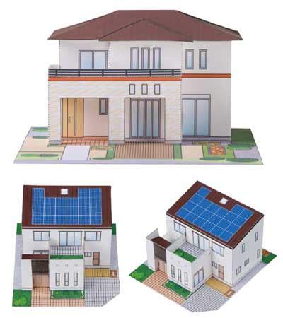 paper craft house 3d japanese modern house paper model pepakura corner