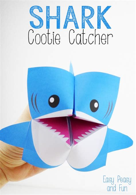 origami cootie catcher shark cootie catcher origami for easy peasy and