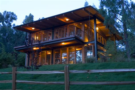 deck rail lighting with slope exterior rustic and