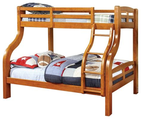 all wood bunk beds solpine oak finish curved wood design solid