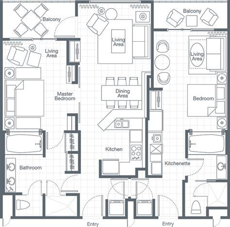 2 bedroom villa floor plans the westin lagunamar resort two bedroom lockoff villa