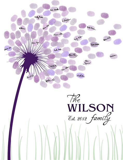 dandelion picture book diy wedding guest book printable pdf 16x20 17x22 18x24