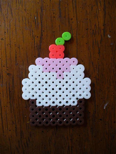 perler cupcake perler bead cupcake sent for a miesmama flickr