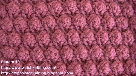 knitting directions bobble stitch free knitting patterns stitch 19