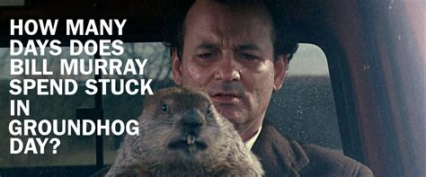 groundhog day day one lyrics how many days does bill murray spend stuck in groundhog