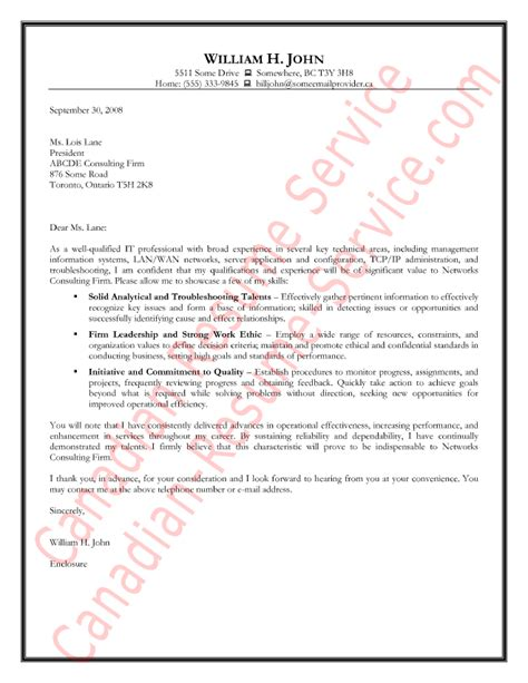 information technology cover letter example sample