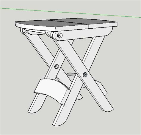 i can do that woodworking projects folding stool sketchup model popular woodworking magazine