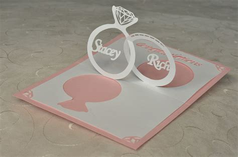 how to make pop up invitation cards wedding invitation pop up card linked rings creative