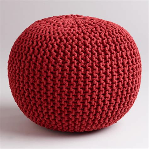 knitted poofs chili pepper knitted pouf world market