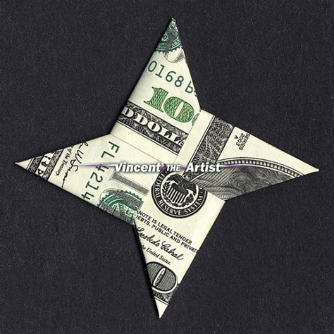 hundred dollar bill origami 4 point money origami dollar bill