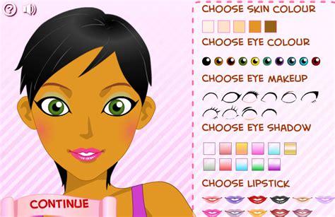 jeux de maquillage et coiffure et habillage