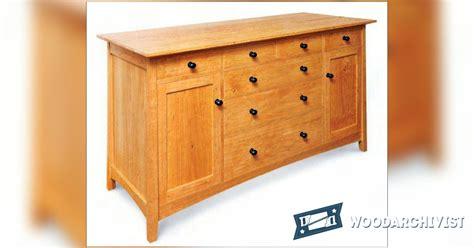 sideboard woodworking plans cherry sideboard plans woodarchivist