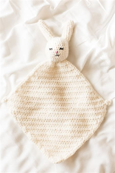 bunny blanket buddy knit pattern the cutest crochet bunny blanket flax twine