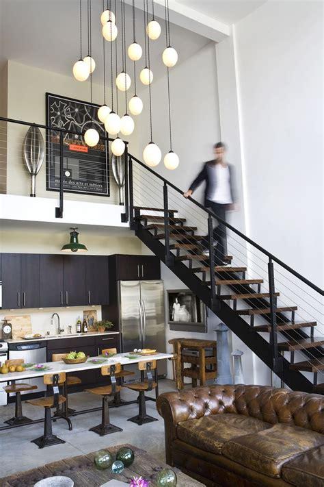 industrial loft kitchen with light 25 best ideas about mezzanine loft on