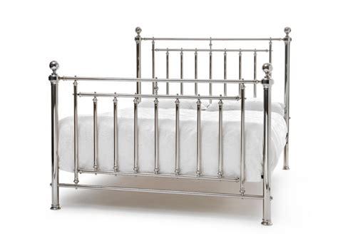 metal king size bed frames serene solomon 6ft king size nickel metal bed frame