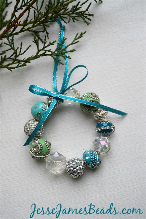 ornaments bead beaded wreath ornaments
