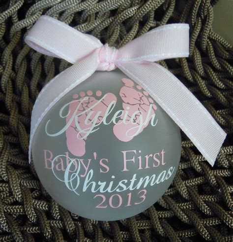 baby ornaments baby s ornament pink white