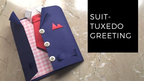 how make greeting cards diy suit tuxedo greeting card tutorial how to make