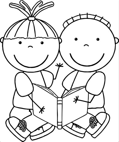 black and white picture books for babies children reading clipart black and white clipartsgram