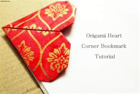 origami bookmark tutorial origami corner bookmark tutorial platter
