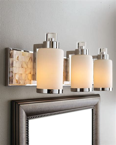 bathroom lighting images capiz shell mosaic tile of pearl bathroom vanity