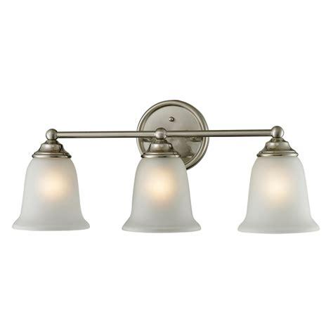 brushed nickel bathroom light shop westmore lighting 3 light landisville brushed nickel