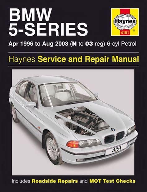 auto repair manual online 2003 bmw 5 series parking system bmw 5 series repair manual 1996 2003 haynes 4151