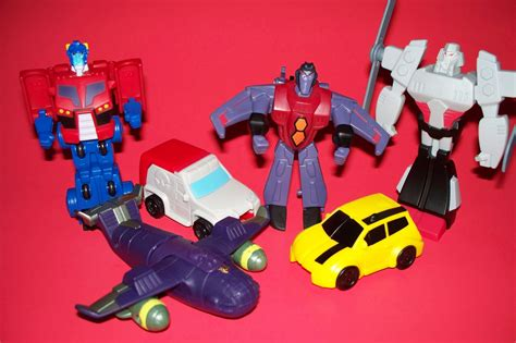 animated toys 2008 mcdonalds transformers animated set of 6 fast food