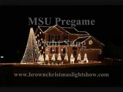 msu fight song lights msu fight song