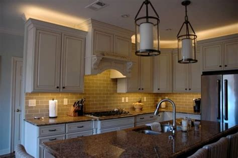 lighting above kitchen cabinets kitchen led lighting inspired led traditional