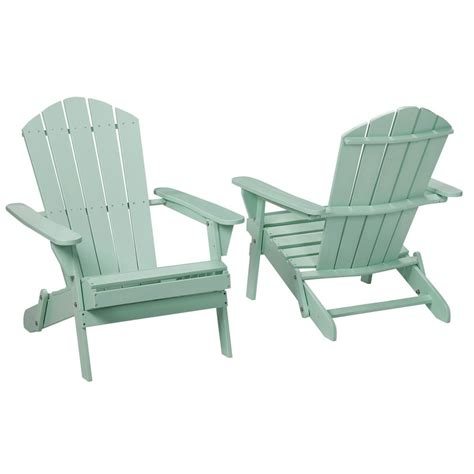 Adirondacks Chairs Home Depot by Mist Folding Outdoor Adirondack Chair 2 Pack 2 1