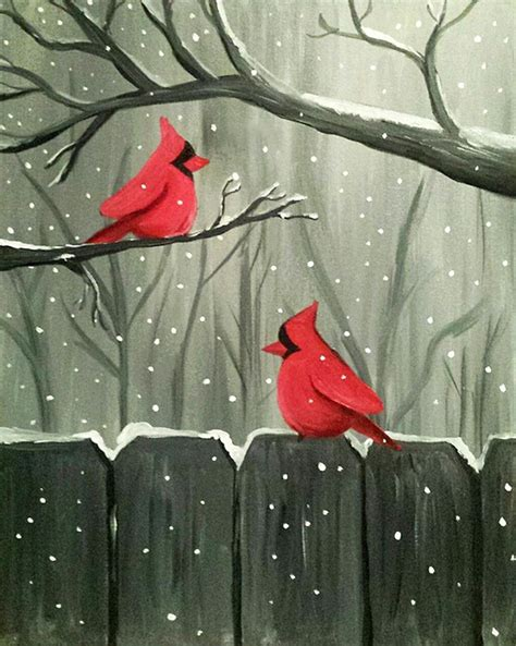 paint nite ideas paint nite winter visitors