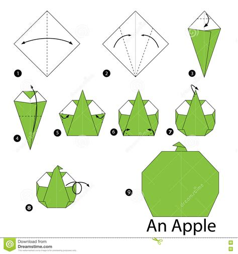 origami apple step by step how to make origami an apple