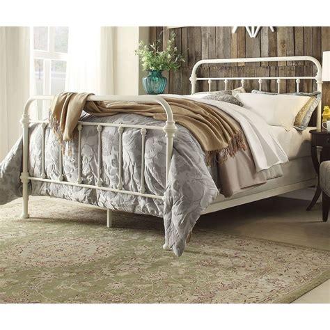 white iron bed frames antique white iron metal bed frame set size