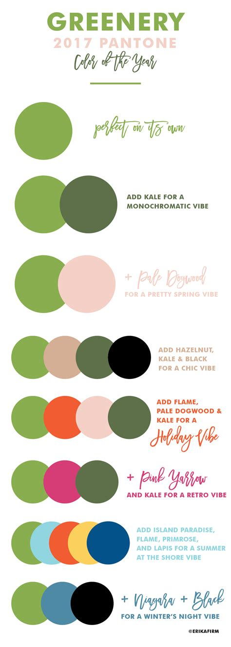 colours of the year 2017 greenery 2017 pantone color of the year erika firm