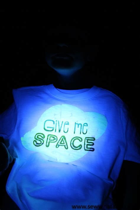 glow in the paint shirt glow in the fabric paint tutorial sew what