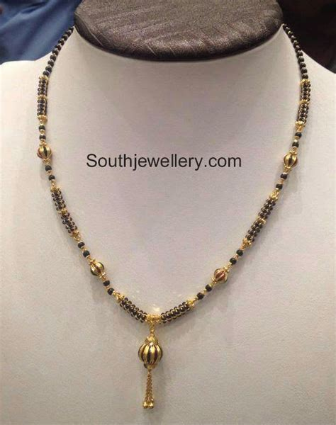 small black jewellery designs black mangalsutra chain models jewellery designs
