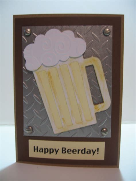 mens birthday cards to make handmade birthday cards for guys metal look happy