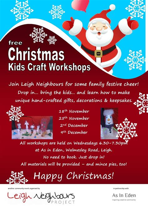 craft workshops for free craft workshops for the family