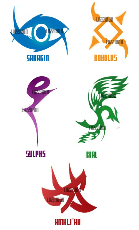 eorzia beast tribal tattoos by lazzxion keyblade on deviantart