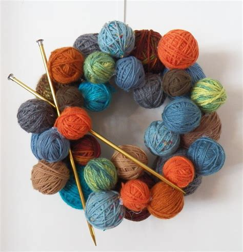 my knits yarn wreath quot a place for learning quot